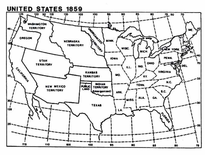 MapUSLgjpg - Map of us in 1870
