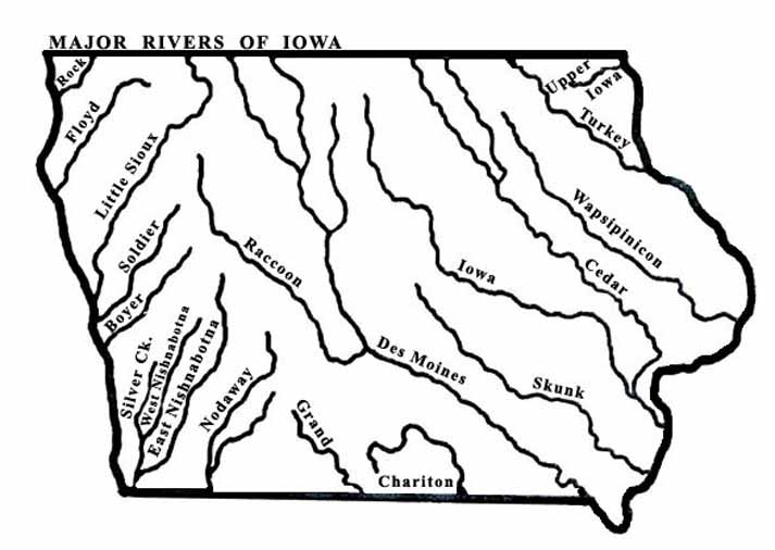 MapIARiversLgjpg - 5 major us rivers map