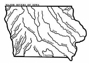 Map Of Iowa River Tidal Treasures - Iowa river map