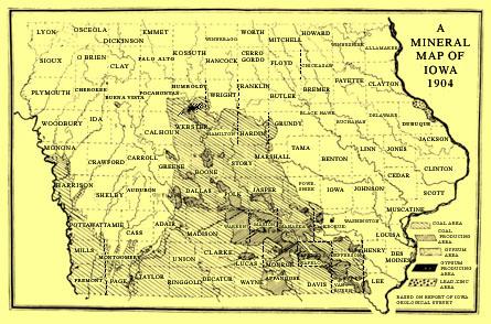 Coal Mining In Iowa - Map of iowa towns